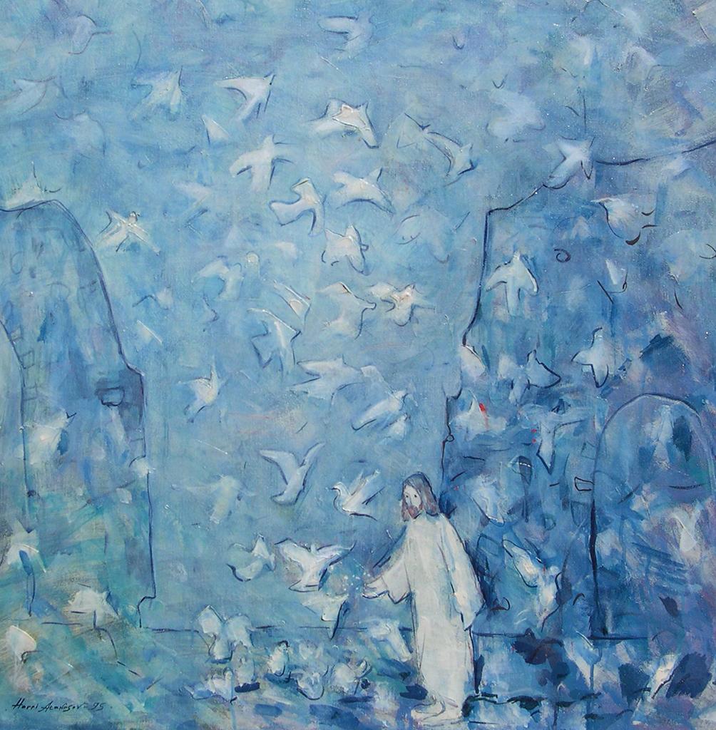 Исус Христос с Гълъби